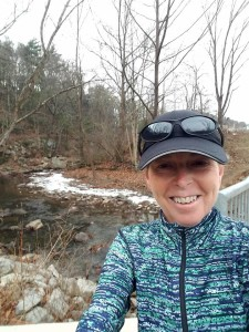 Ice in the creek on a run the week after back from Key West.