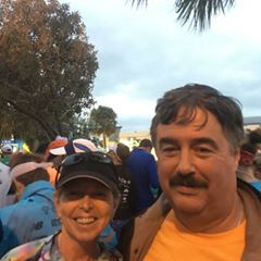 Hubby and I before race start.